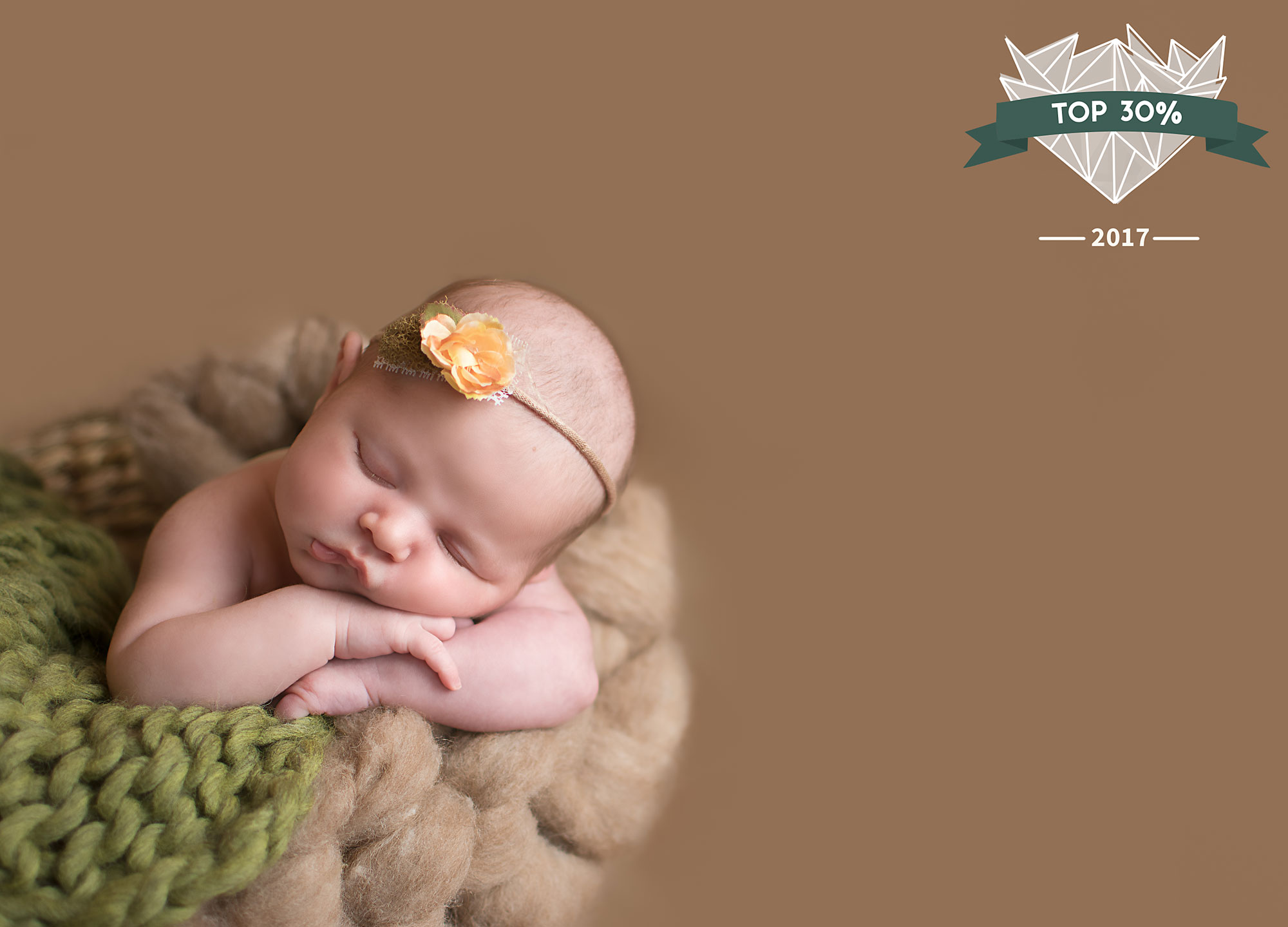 Photo Contest Shoot and Share Newborn photography neutral green headband