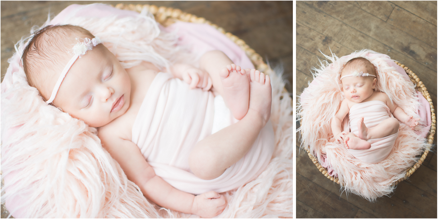 Newborn Photography Brand Video pink basket