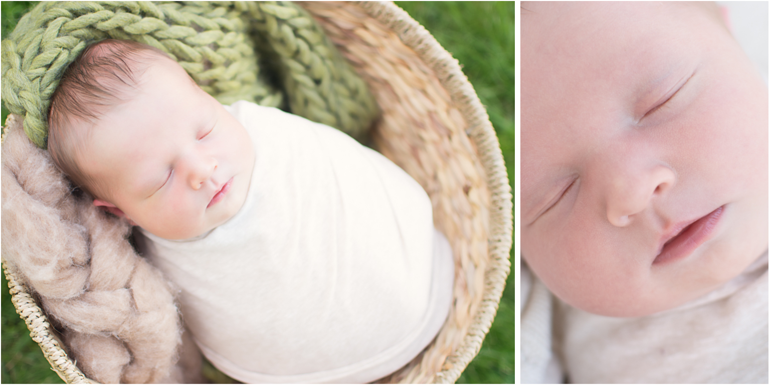 Callan Williamsport Newborn Photographer outdoor session neutrals basket