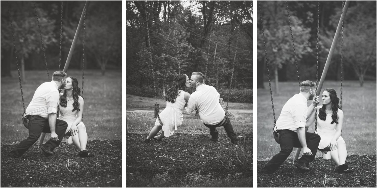 Kathy and Arthur bridal wedding portraits williamsport  outdoor swing