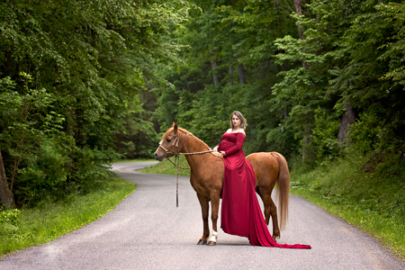Maternity Session Williamsport PA Horse Equestrian SewTrendyAccessories