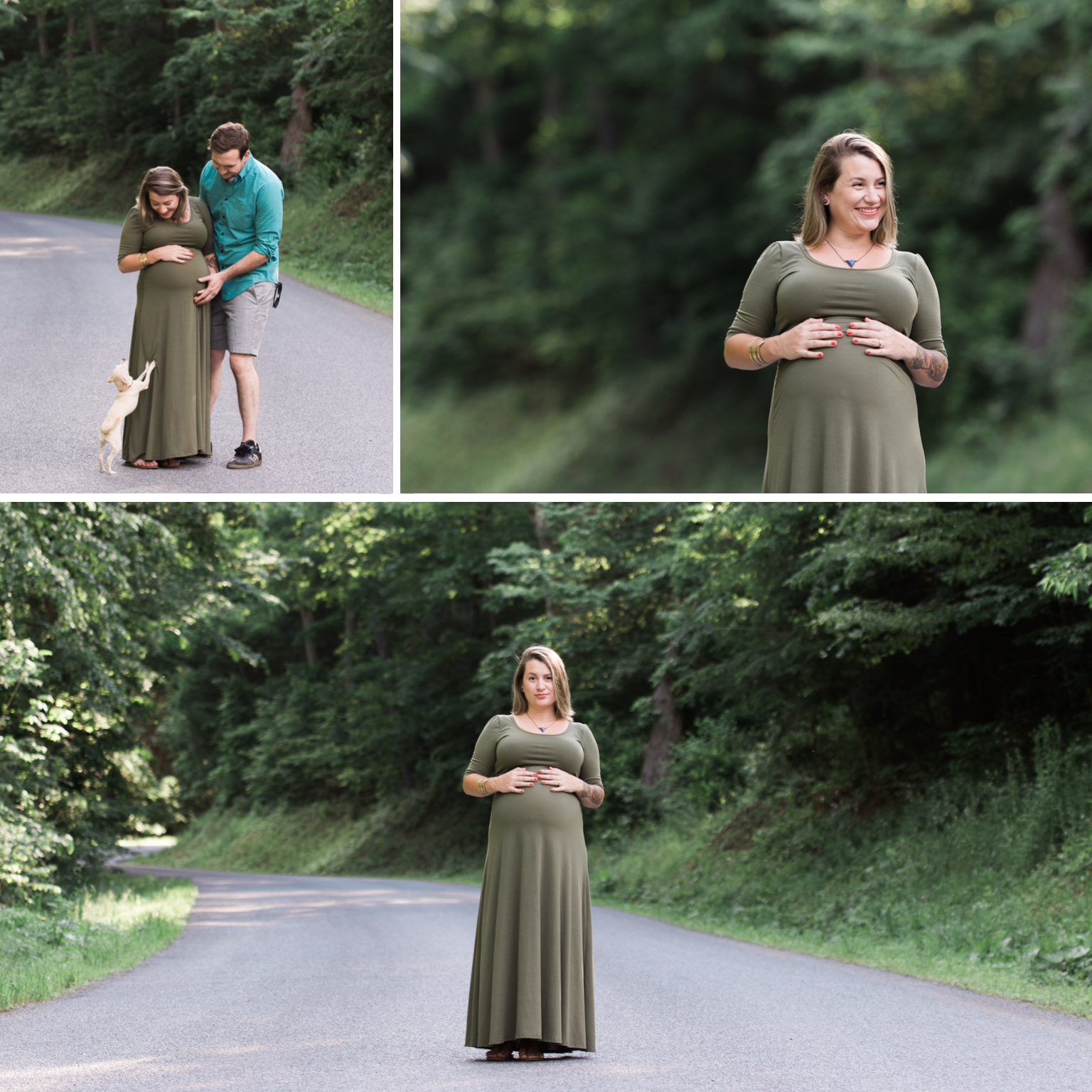 Maternity Session outdoors Williamsport PA greenery glowing momma