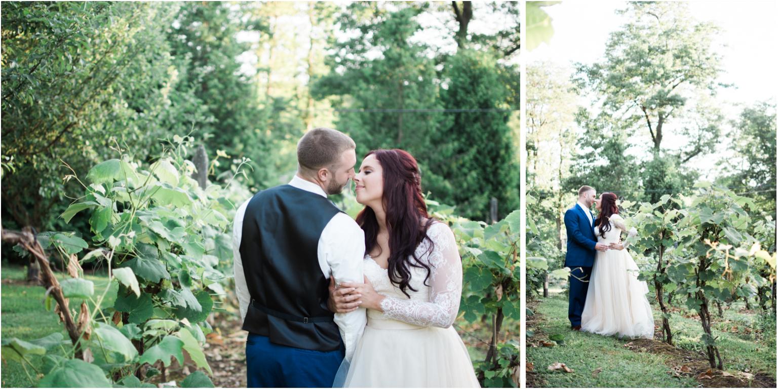 Married WIlliamsport PA Wedding bridal portraits love winery