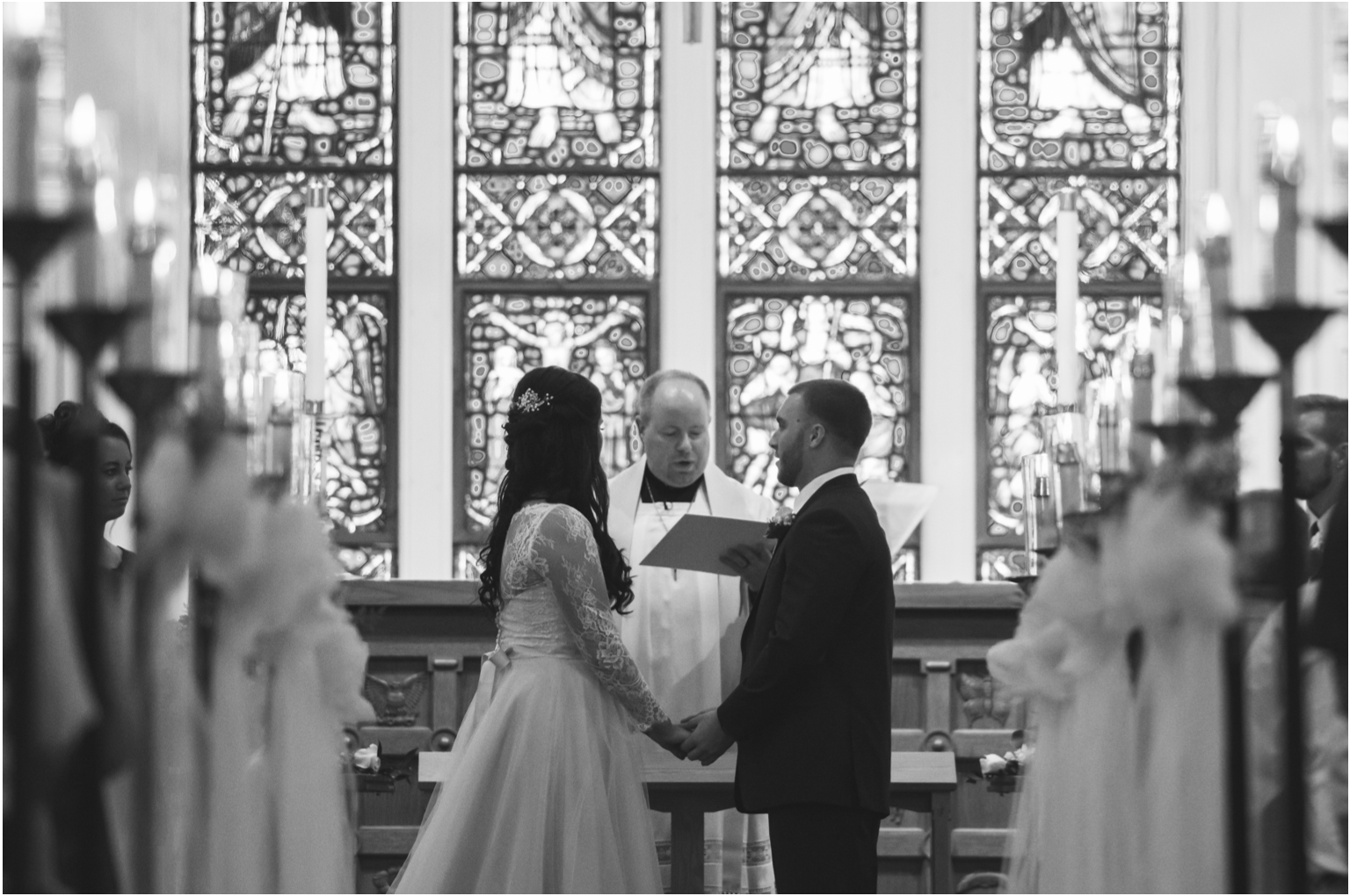Married WIlliamsport PA Wedding getting wedding church cathedral