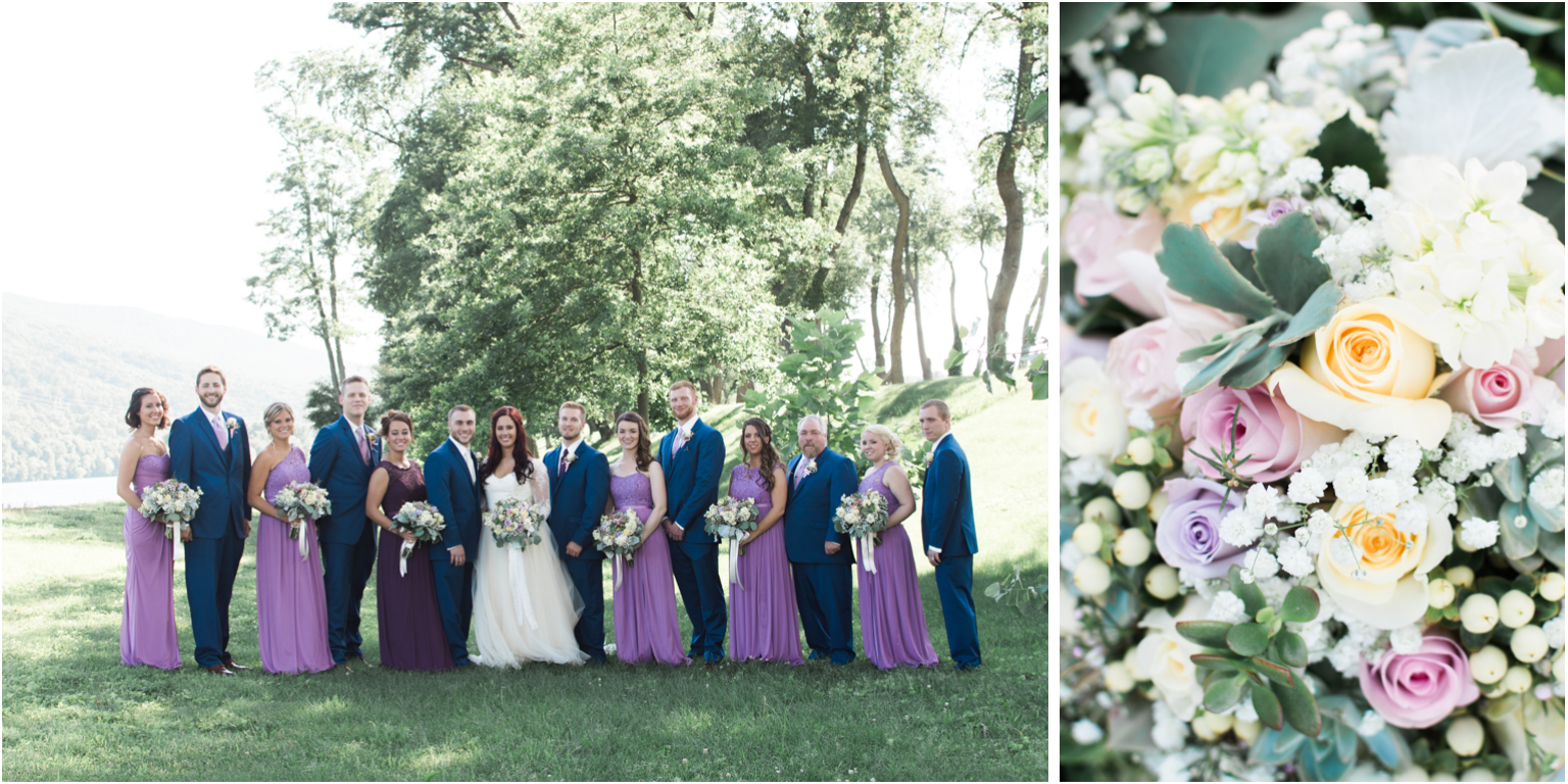 Married WIlliamsport PA Wedding bridal party flowers