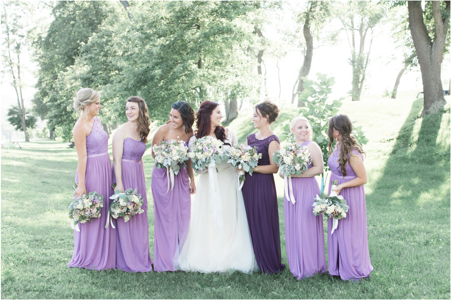 Married WIlliamsport PA Wedding bridal party bridesmaids happy