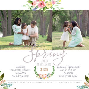 Williamsport PA Spring Mini Session Photography