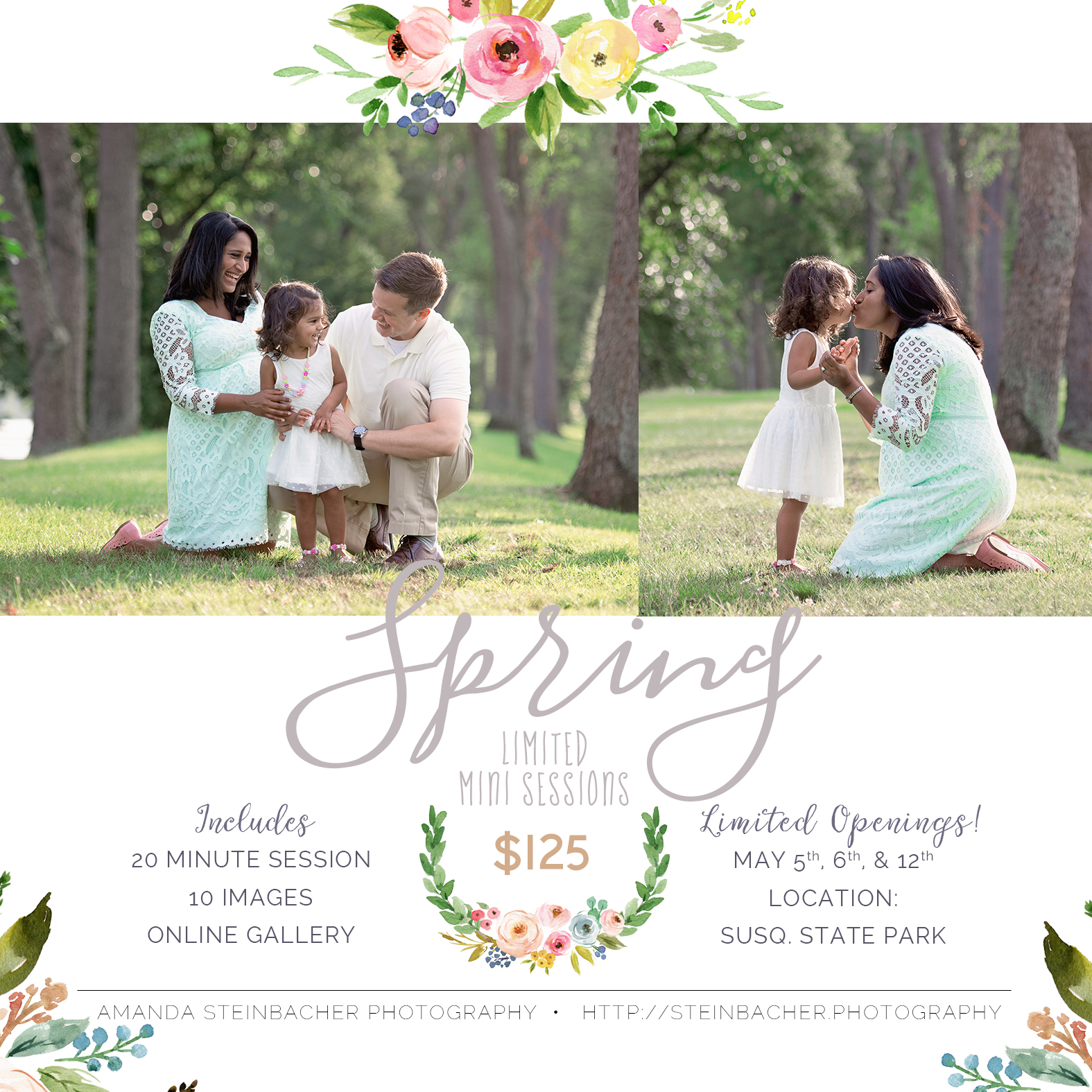 Spring Mini Sessions Williamsport PA