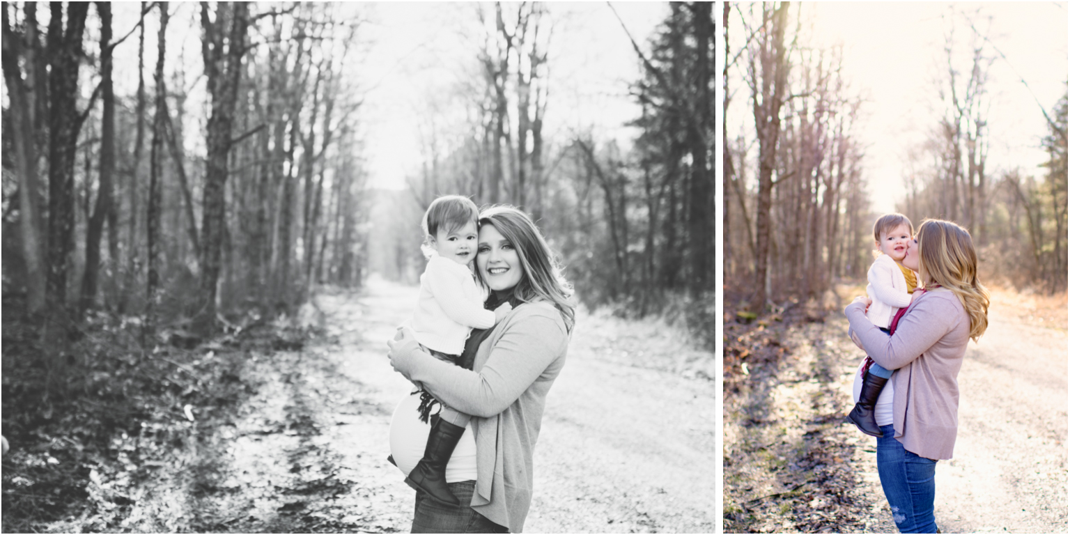 maternity milestone session family woods williamsport pa