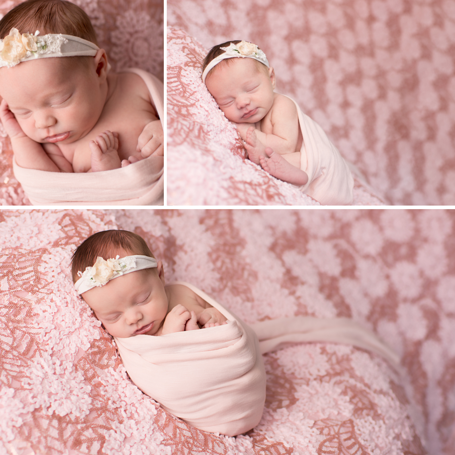 Baby Photography Pink Floral headband