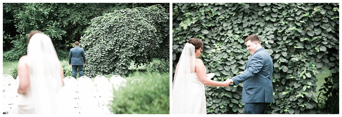 bush house estate wedding first look