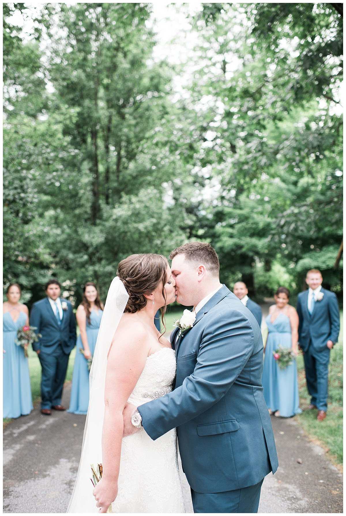 Bush house estate bridal couple