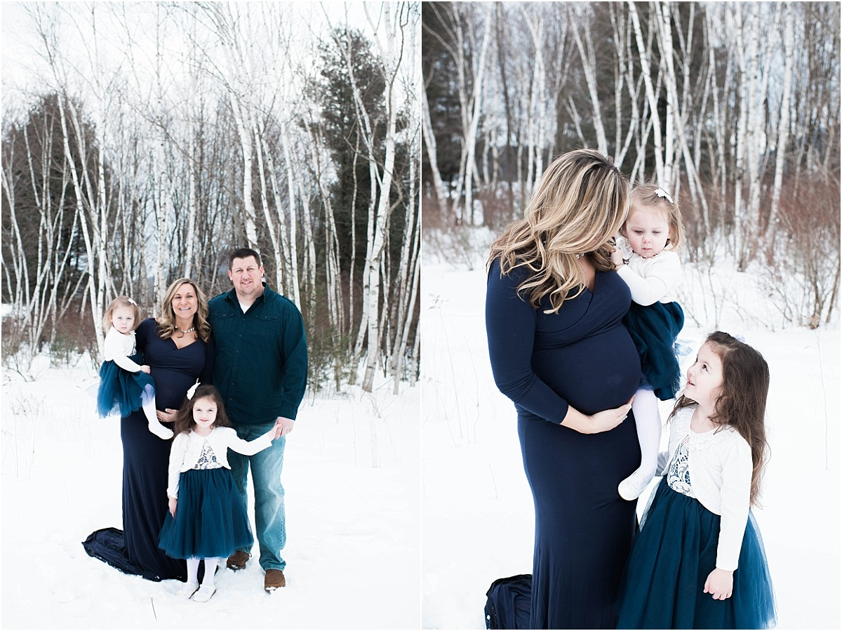 snowy maternity session williamsport pa
