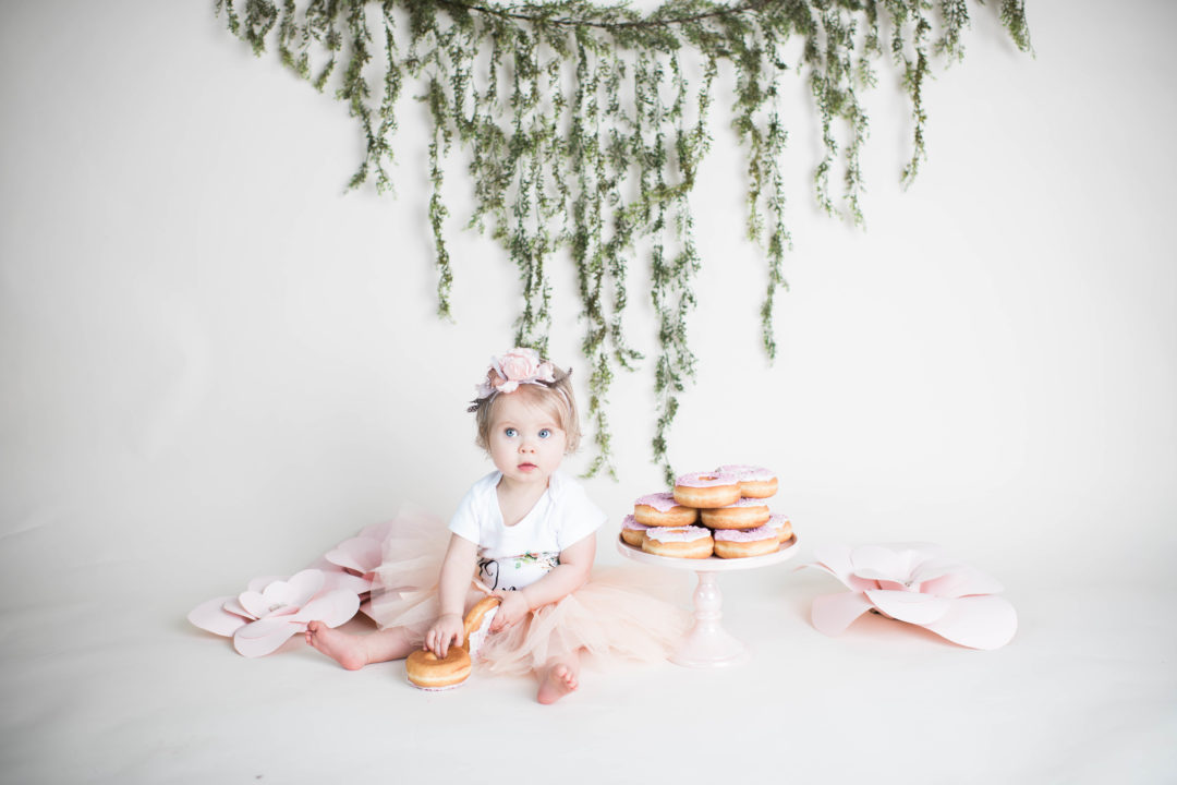 Williamsport PA donust smash milestone session baby photography