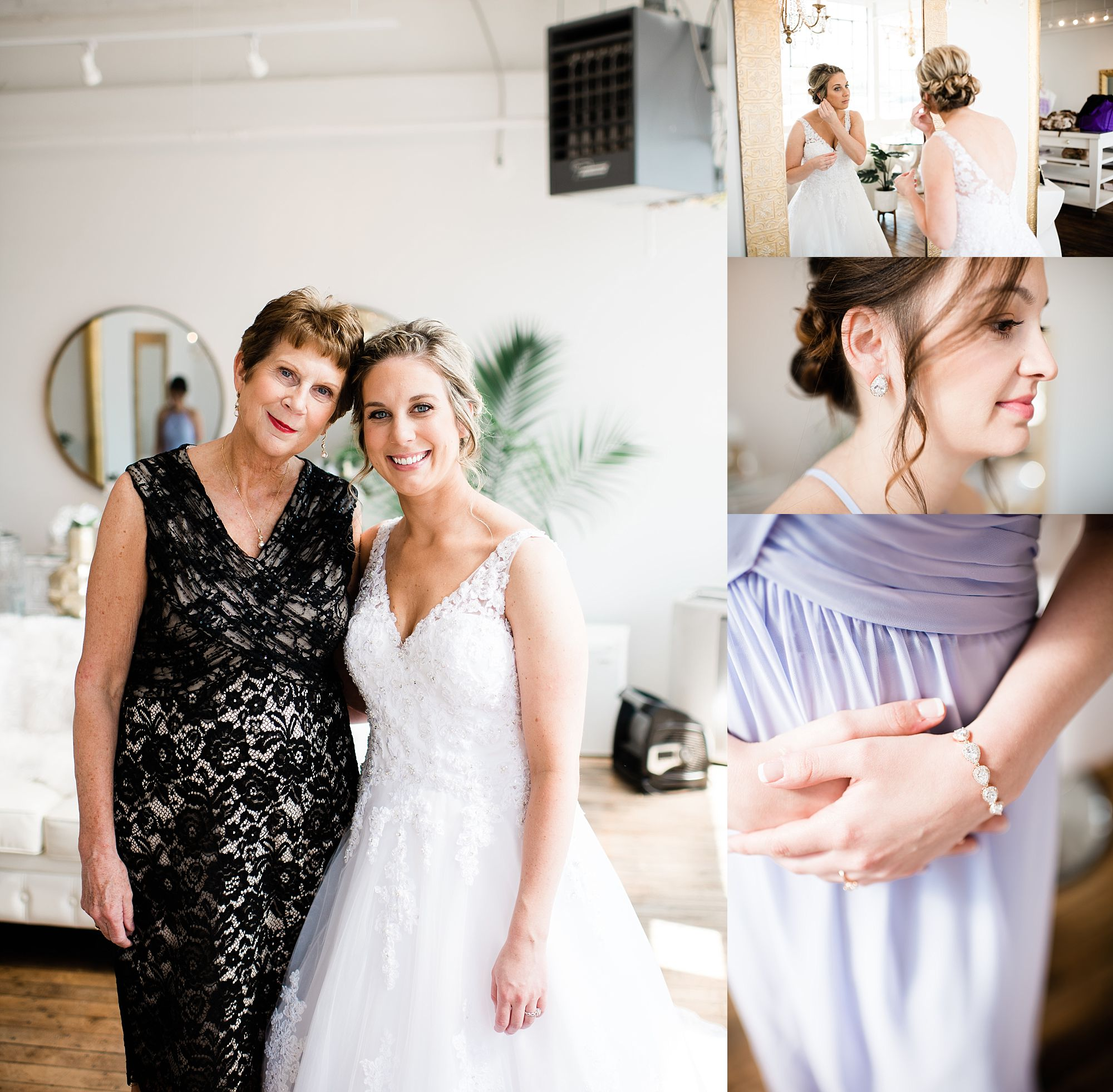 Williamsport PA Wedding bridal party studio space mother daughter
