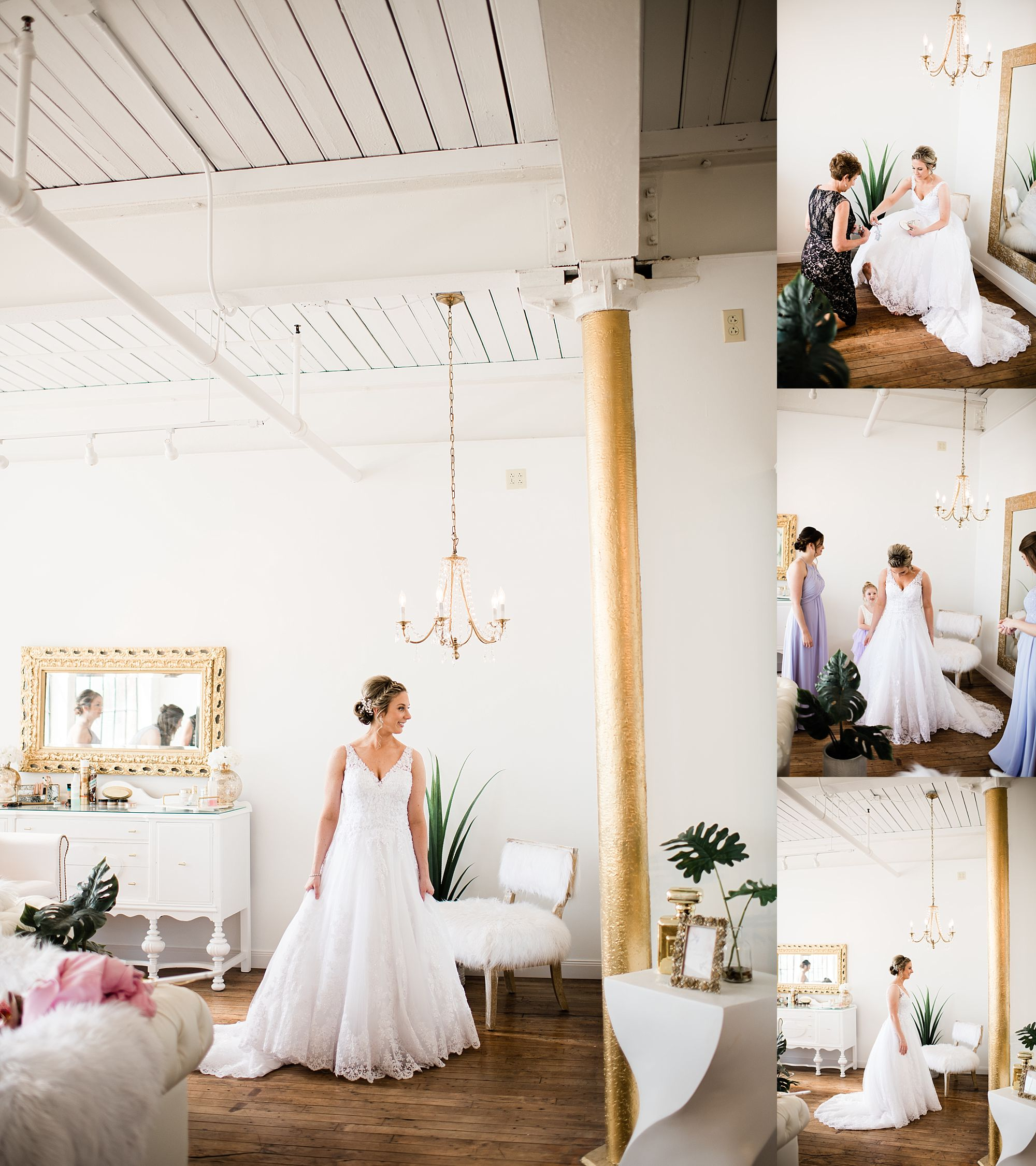 Williamsport PA Wedding bridal party studio space final touches