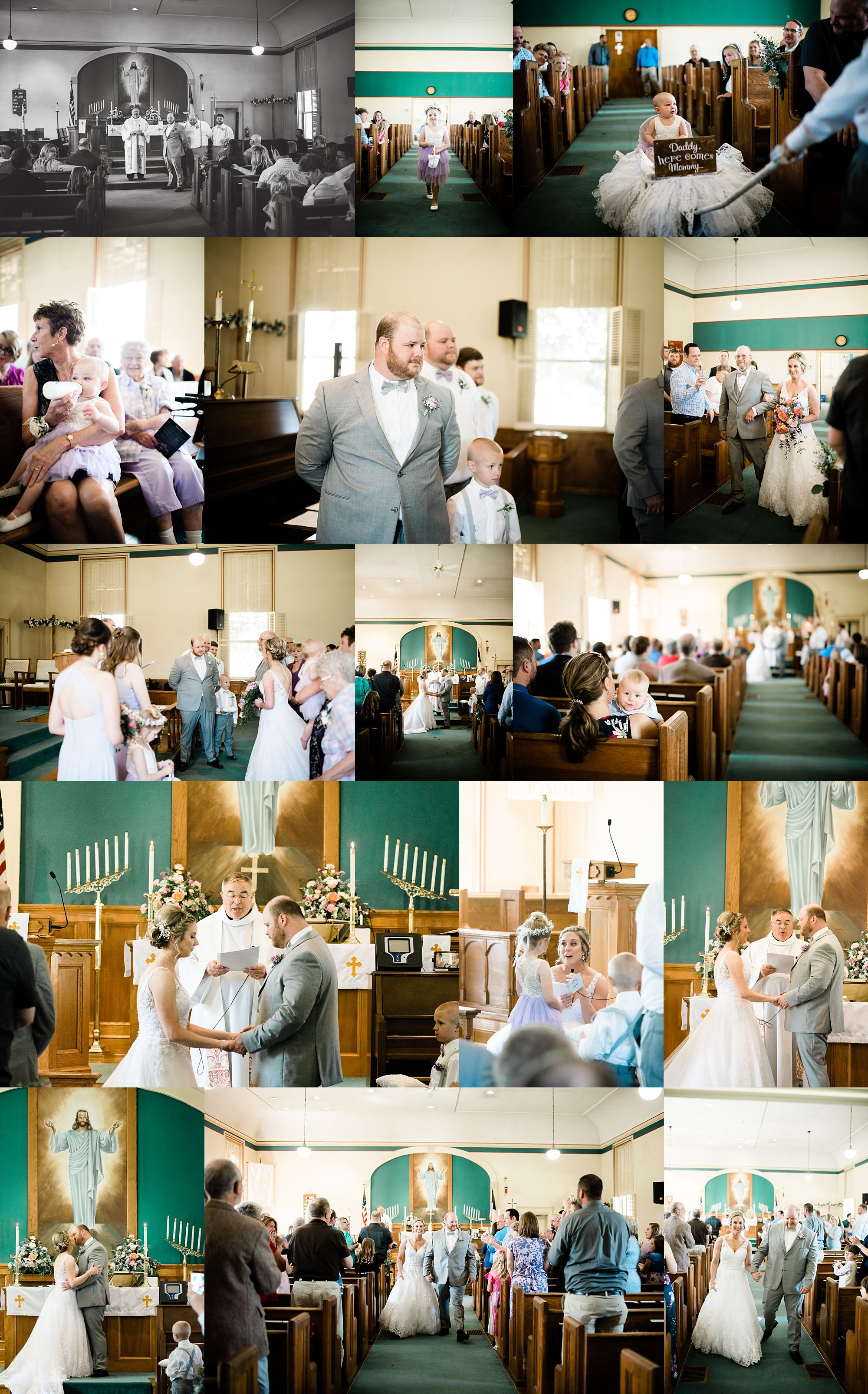 Williamsport PA Wedding bridal party studio space ceremony