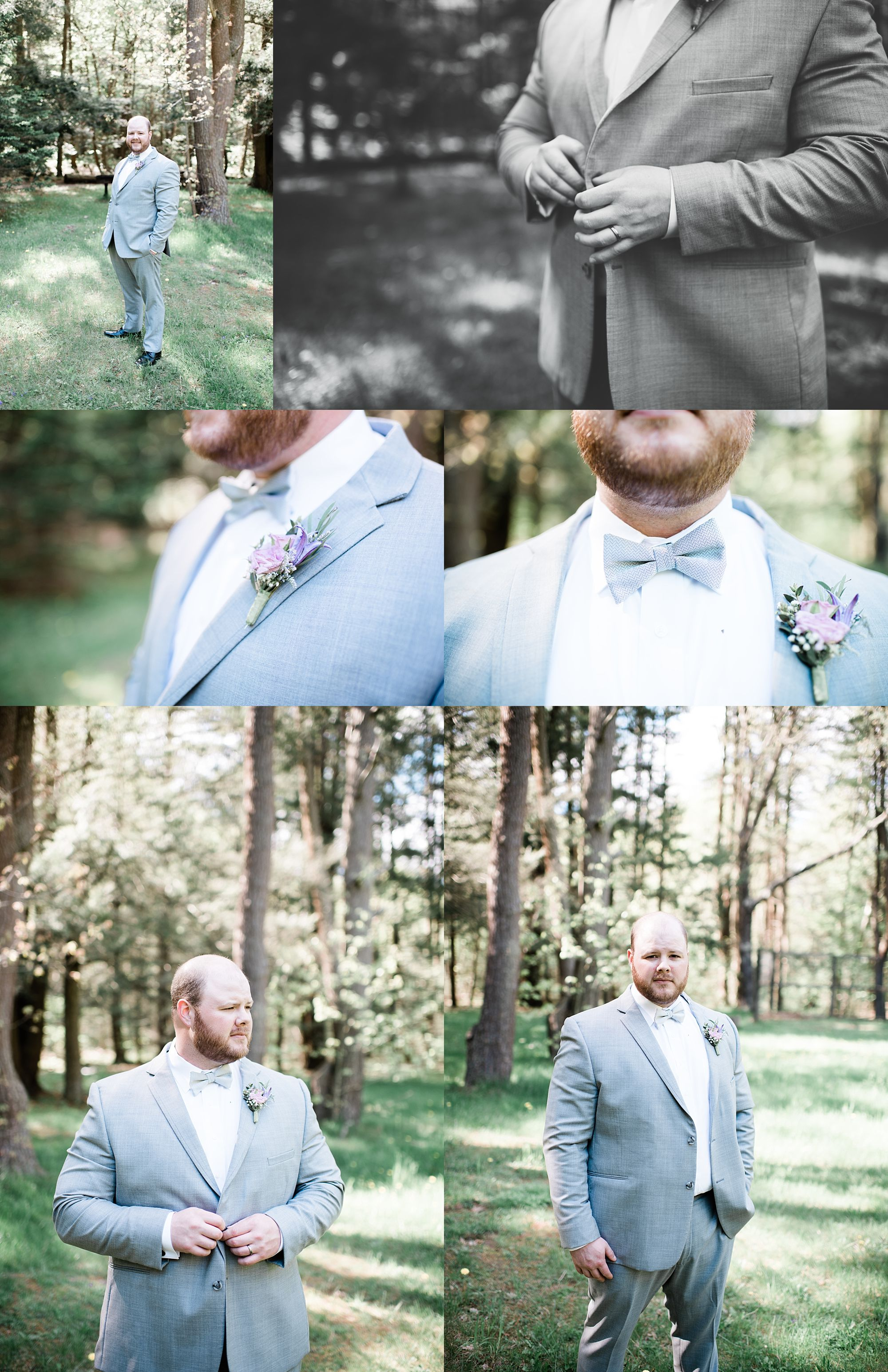 Williamsport PA Wedding bridal party studio space groom details
