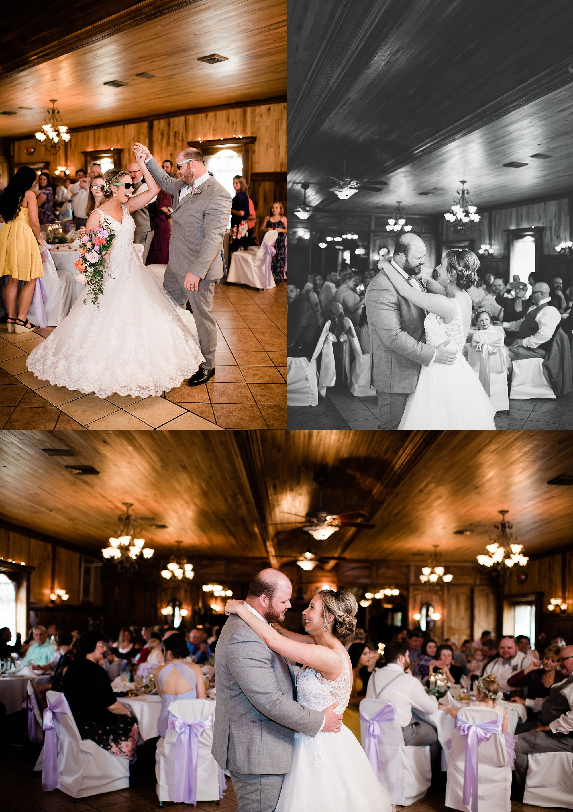 Williamsport PA Wedding bridal party couple  first dance