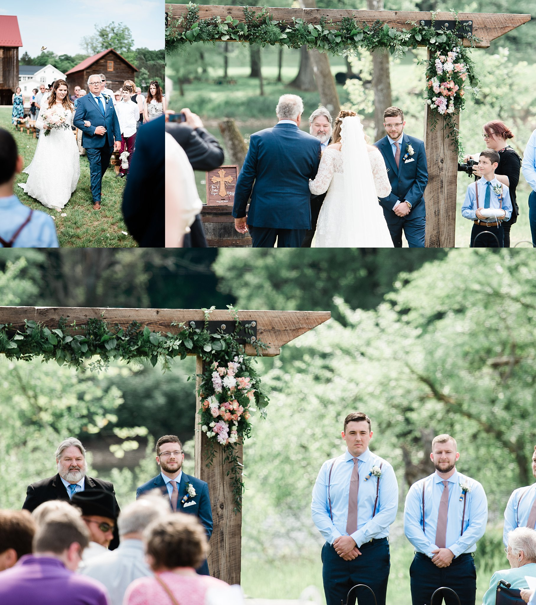pine creek barn wedding ceremony