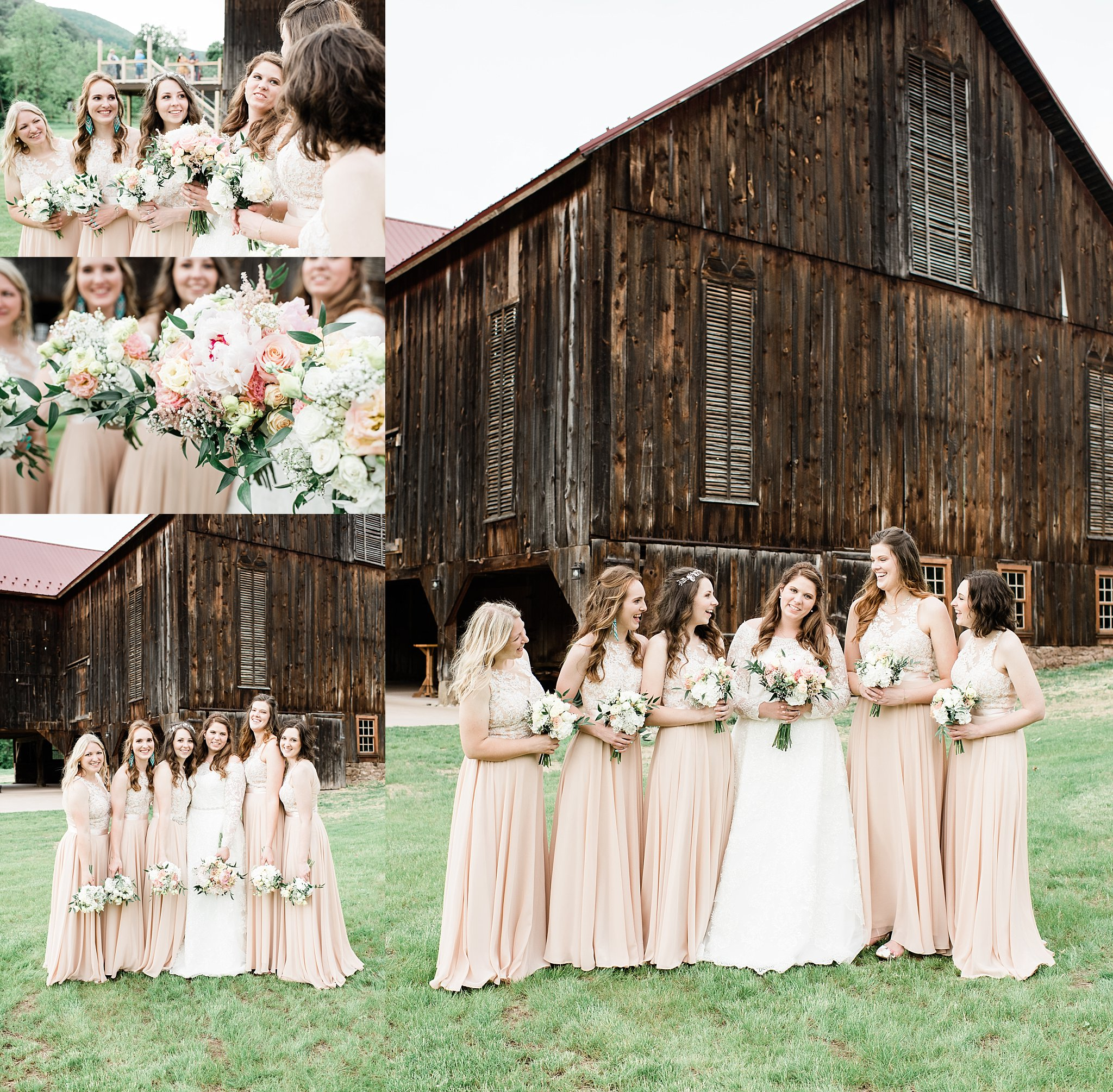pine creek barn wedding party