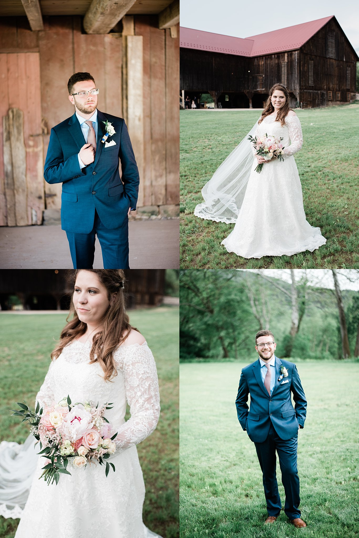 pine creek barn wedding couple