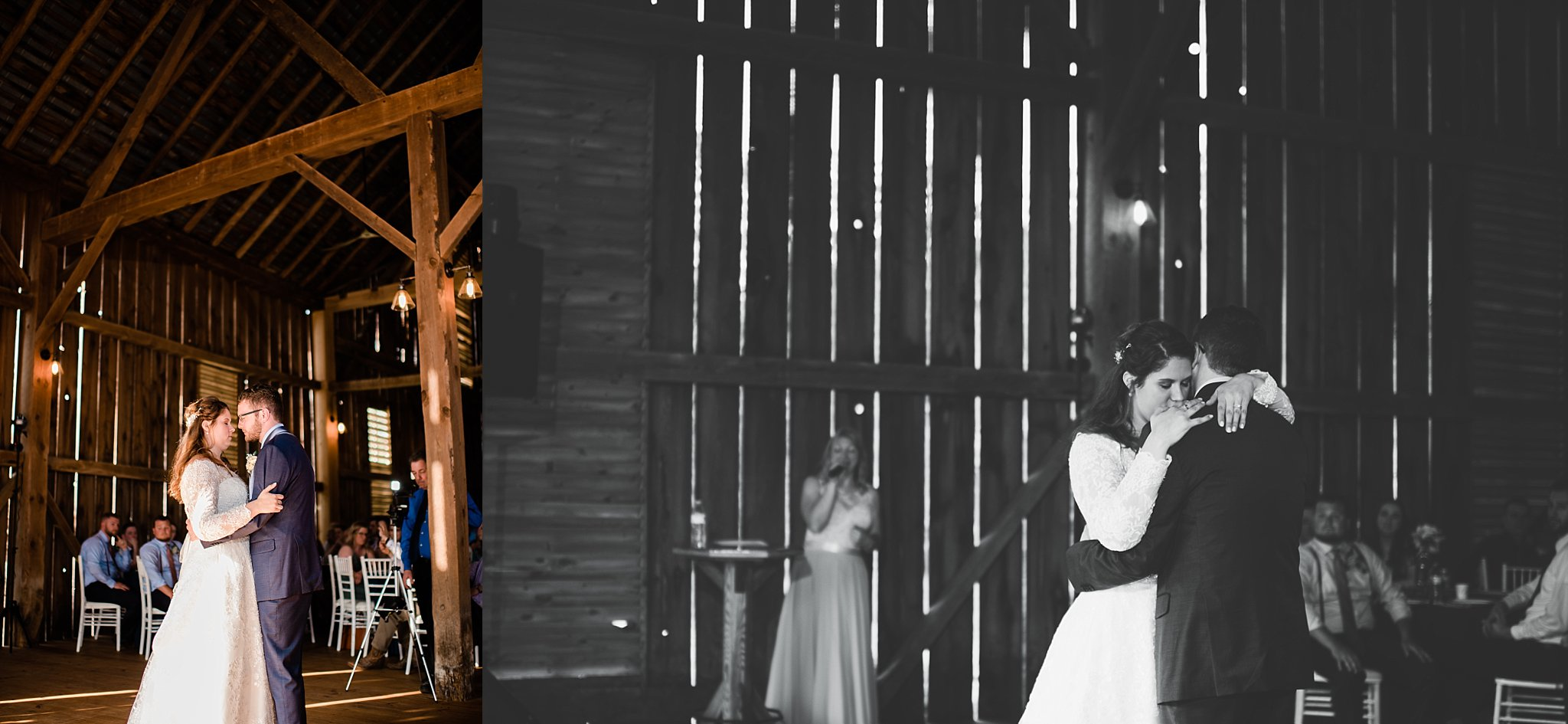 pine creek barn wedding couple first dance