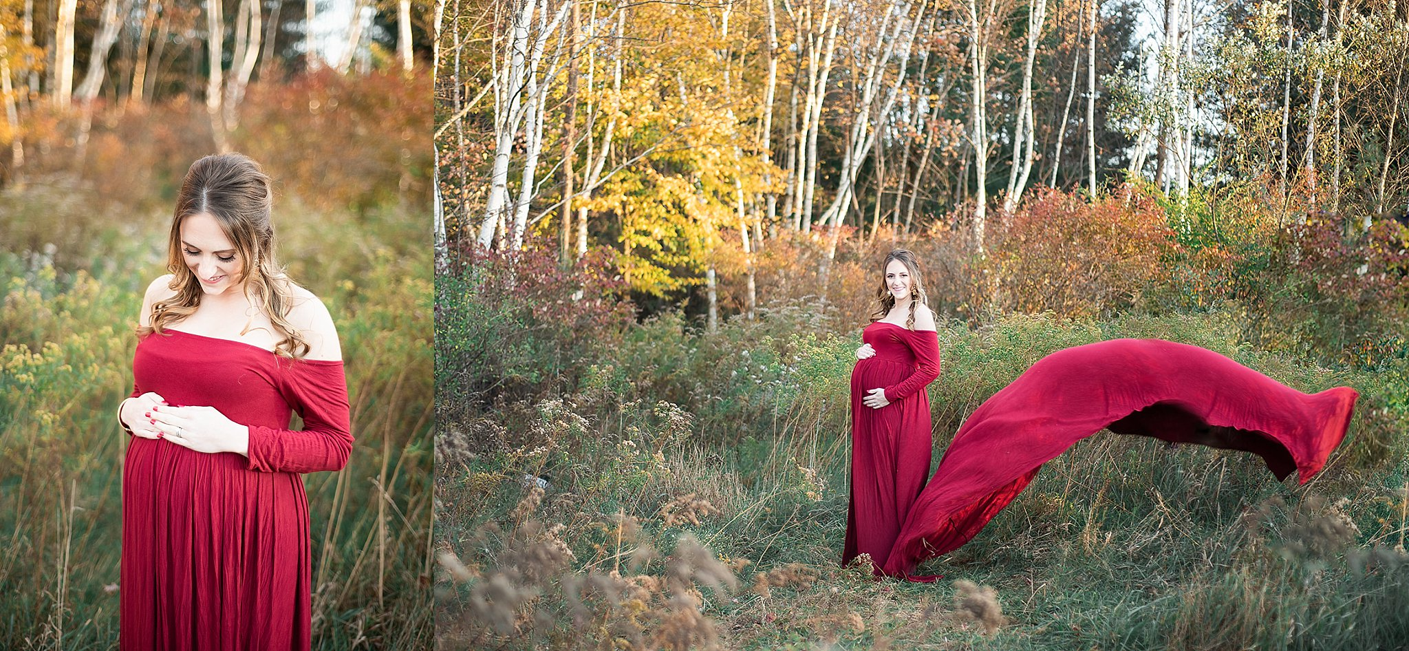 milestone photography maternity session designer gowns