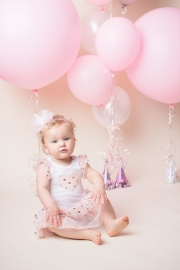 Pink and Gold theme with balloons